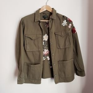 Topshop Embroidered Military Jacket